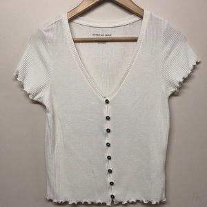 American Eagle white short sleeve shirt